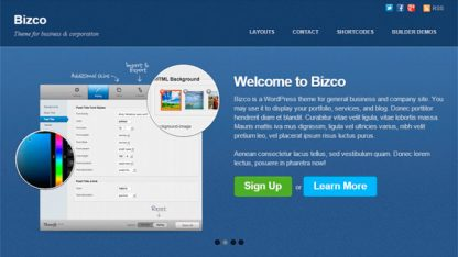 Tema Wordpress Bizco