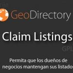 GeoDirectory Claim Listing