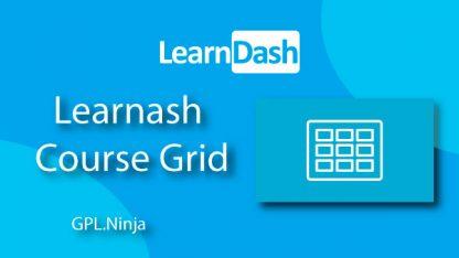 Plugin Learndash course grid