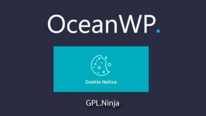 Plugin OceanWP cookie notice