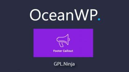 Plugin OceanWP footer callout