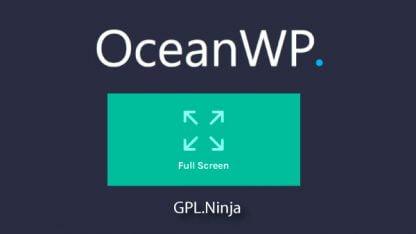 Plugin OceanWP full screen