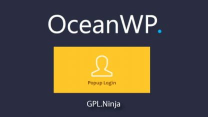 Plugin OceanWP popup login