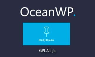 Plugin OceanWP sticky header
