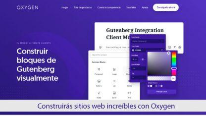 Plugin Oxygen Gutenberg