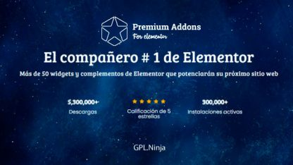 Plugin Premium Addons for Elementor