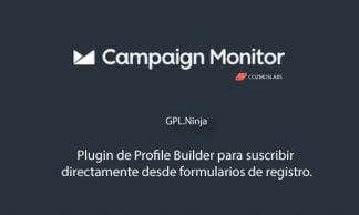 Plugin Campaign Monitor