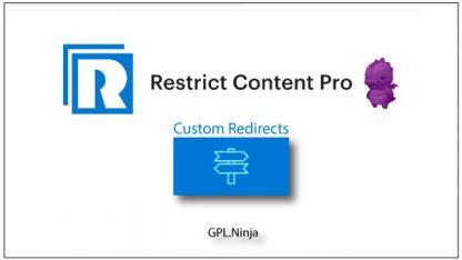 Plugin Restrict Content Pro custom redirects