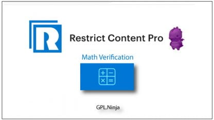 Plugin Restrict Content Pro math verification