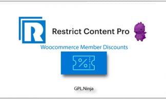 Plugin Restrict Content Pro Woocommerce member discounts