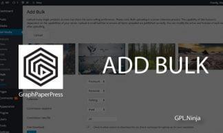 Plugin add bulk graphpaperpress