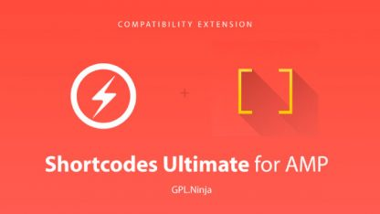 Plugin shortcodes ultimate for amp