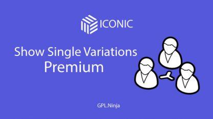 Plugin Show single variations premium
