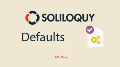 Plugin soliloquy defaults