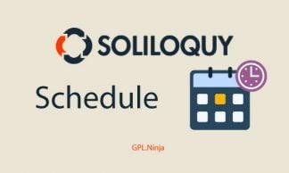 Plugin soliloquy schedule