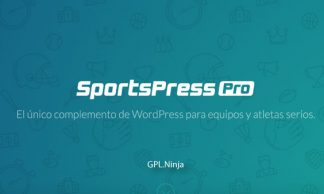 Plugin sportpress pro
