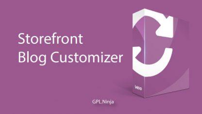 Plugin Storefront blog customizer