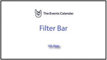 Plugin Filter Bar The Events Calendar