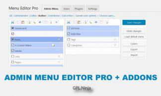 Admin Menu Editor Pro más Addons