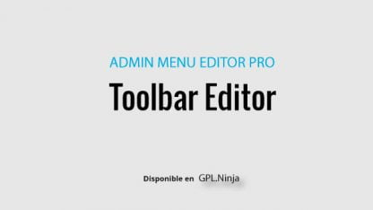 WP Toolbar Editor