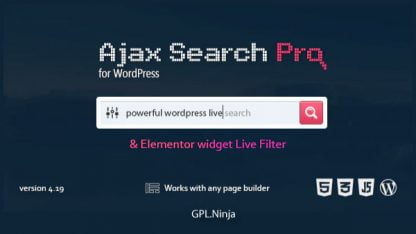 Ajax Search Pro – Live WordPress Search & Filter Plugin