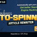 Wordpress Auto Spinner Articles Rewriter