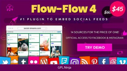Flow-Flow – Facebook Instagram Twitter Feed