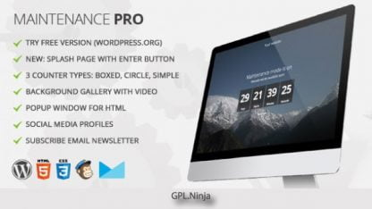 Maintenance PRO – WordPress plugin