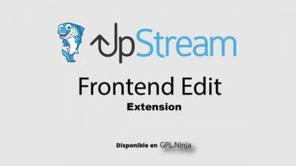 Upstream Frontend Edit