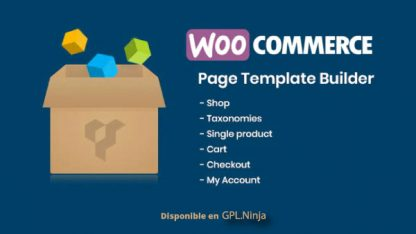 Woocommerce Page Template Builder