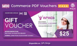 Woocommerce PDF Vouchers