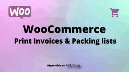Woocommerce Print Invoices & Packing lists