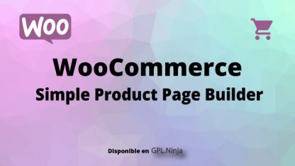 Woocommerce Simple Product Page Builder