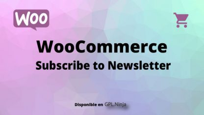 Woocommerce Subscribe to Newsletter
