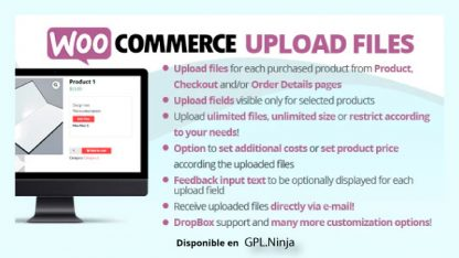 WooCommerce Upload Files