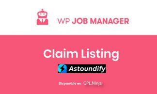 WP Job Manager Claim Listing