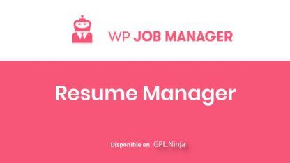 WP Job Manager Resumes