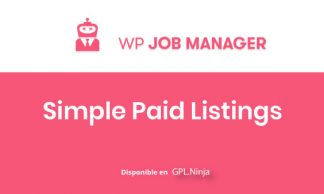 WP Job Manager Simple paid Listings