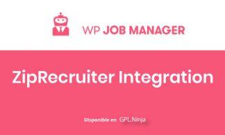 WP Job Manager Ziprecruiter Integration