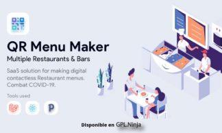 QR Menu Maker - SaaS - Contactless restaurant menus