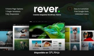 Rever – Clean and Simple WordPress Theme