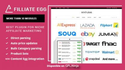 Affiliate Egg – Niche Affiliate Marketing WordPress Plugin