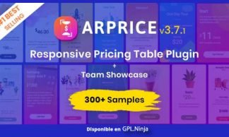 ARPrice – Responsive WordPress Pricing Table Plugin