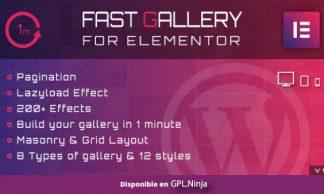 Fast Gallery for Elementor WordPress Plugin