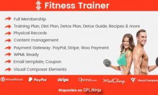 Fitness Trainer – Training Membership Plugin