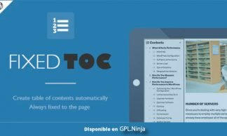 Fixed TOC – Table of Contents for WordPress