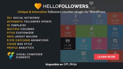 Hello Followers – Social Counter Plugin