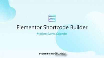 Elementor Shortcode Builder for MEC