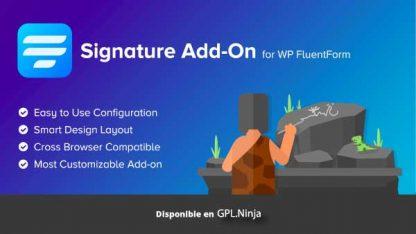 Signature Add-On for WP FluentForm